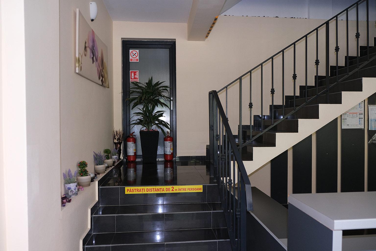 Pensiunea Platinum Baile Herculane interior scari